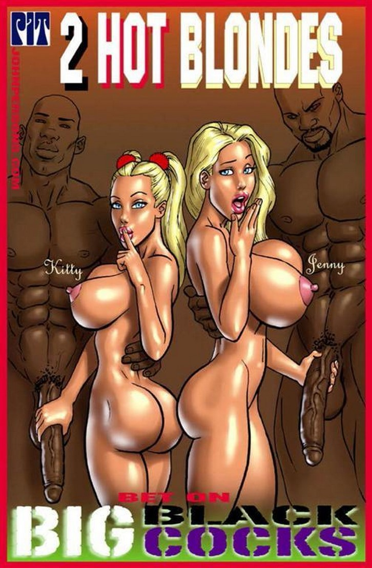 2 hot blondes big black cock comic